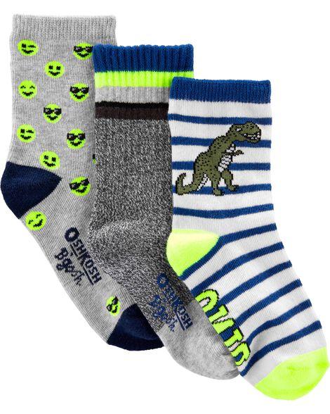 3-Pack Dino-Mite Crew Socks
