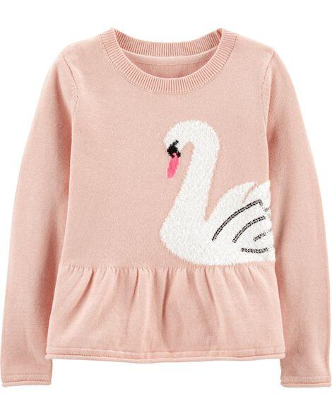 Swan Peplum Sweater
