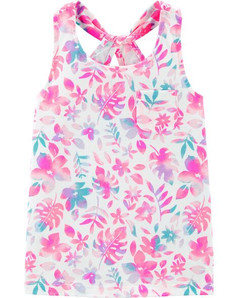 Tropical Floral Pocket Tank