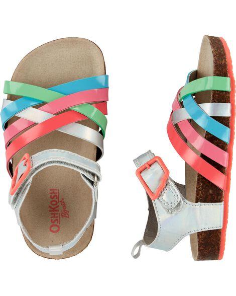 c79639b969fb OshKosh Strappy Metallic Sandals ...