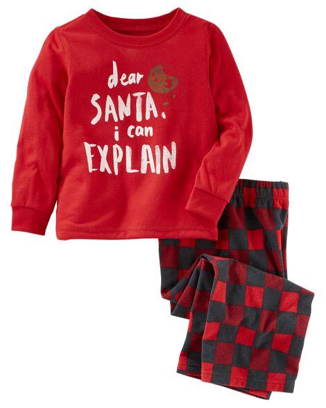 9564eee608b0 2-Piece Dear Santa PJs