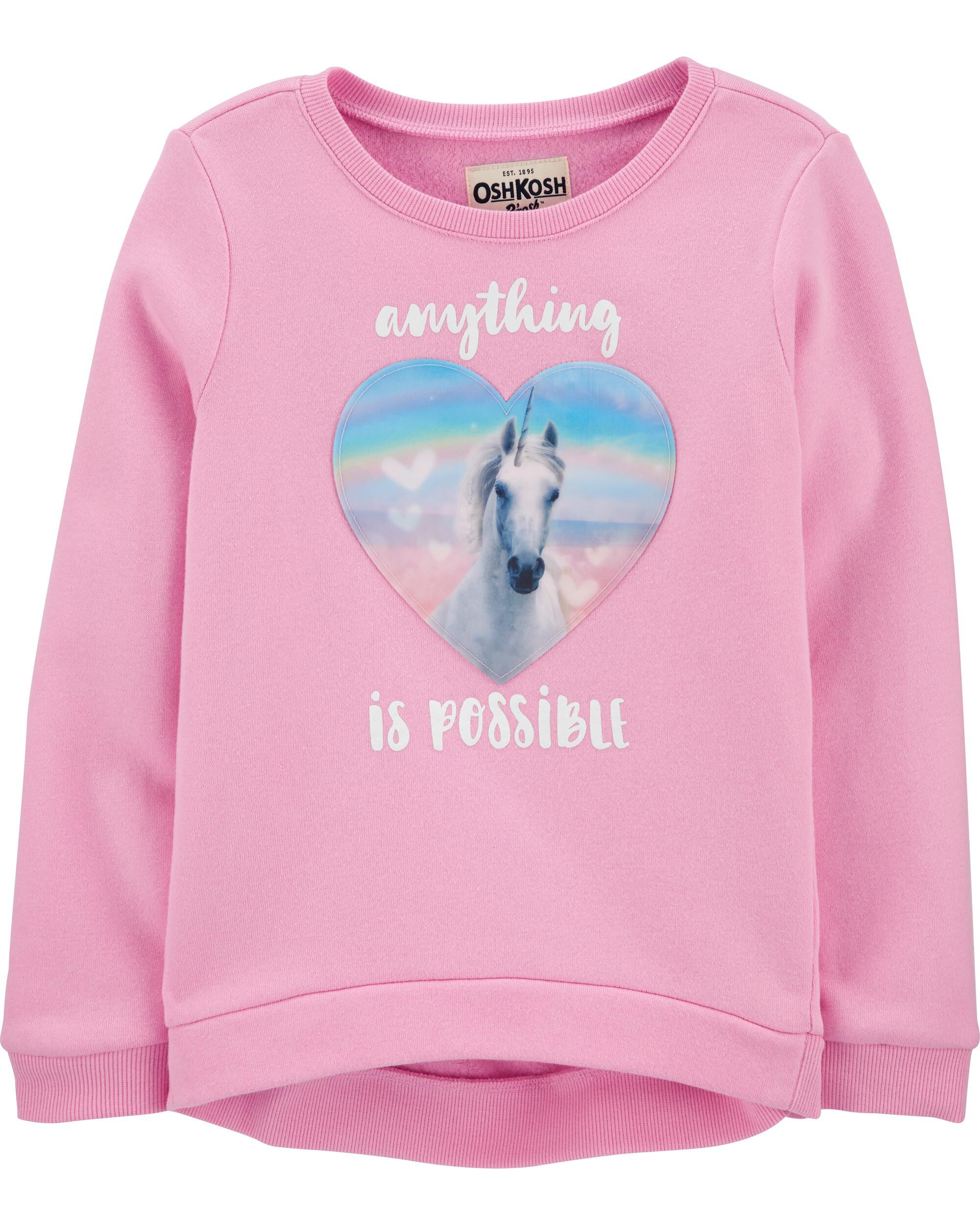*CLEARANCE*Unicorn Dreamy Motion Graphic Pullover