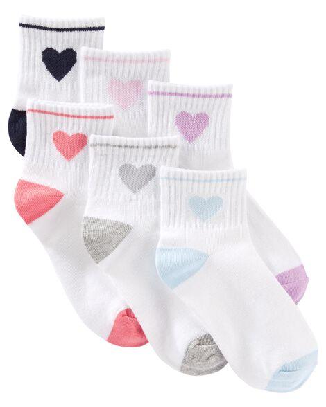 6-Pack Quarter Crew Socks