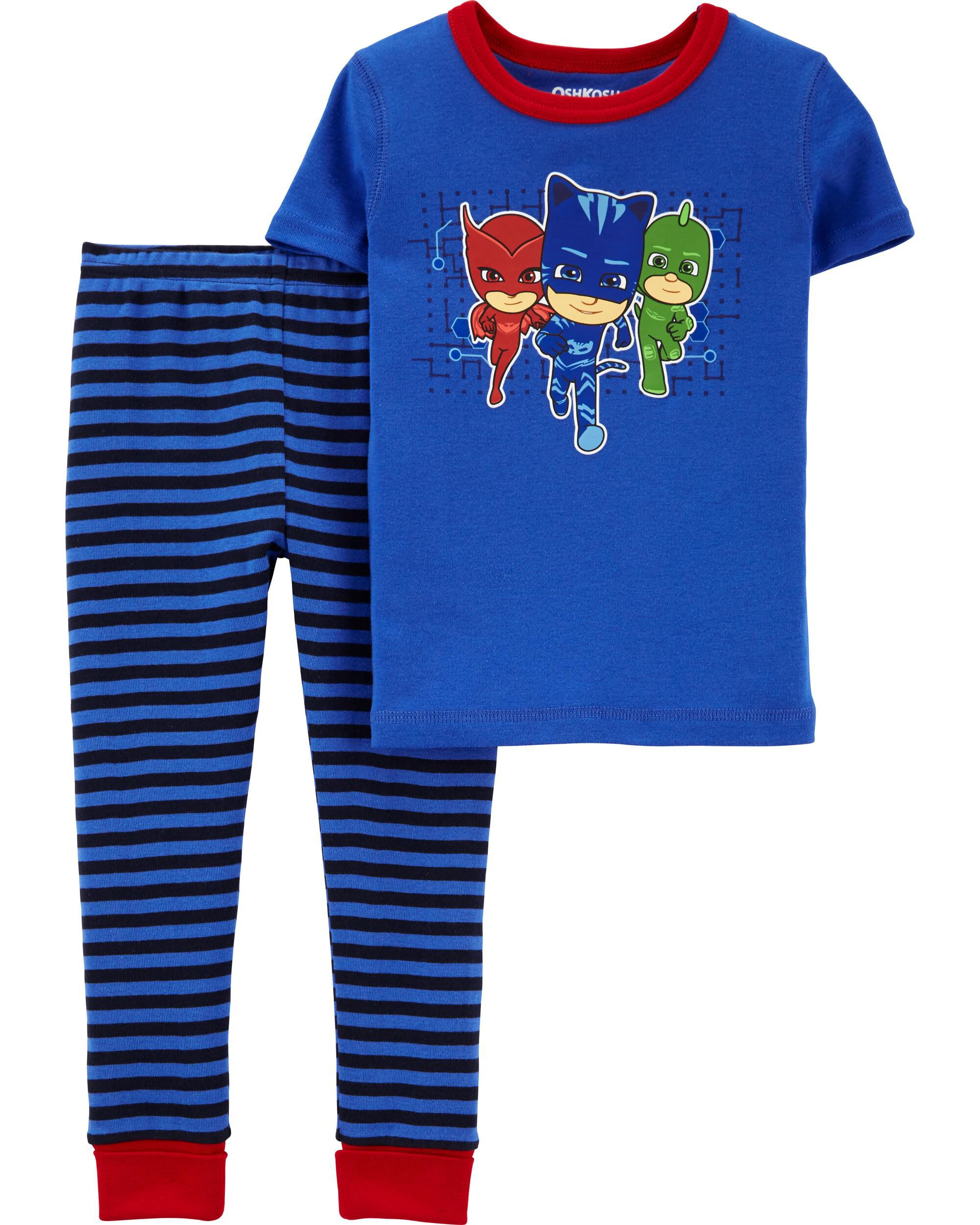 Shorts 3,4,5,6,8 Boys Official Character PJ Masks Short Sleeve Pyjamas,T-shirt