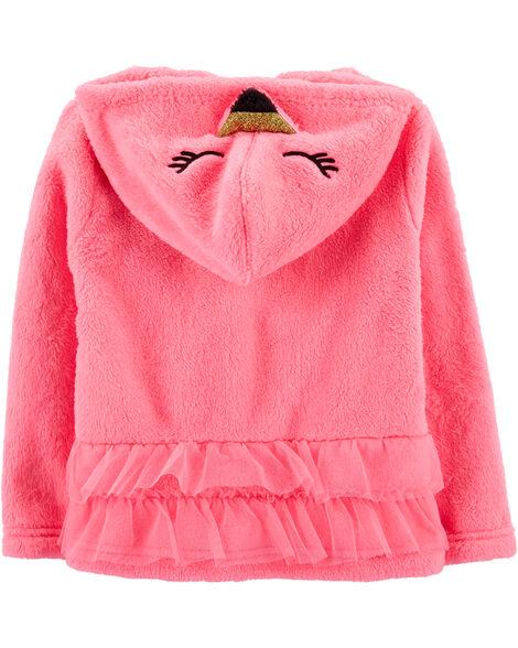 Fuzzy Flamingo Hoodie