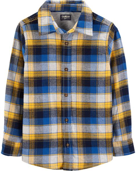 fae2b0711f10 Button-Front Flannel Shirt
