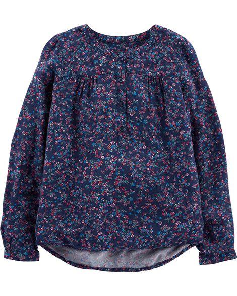 Drapey Floral Top