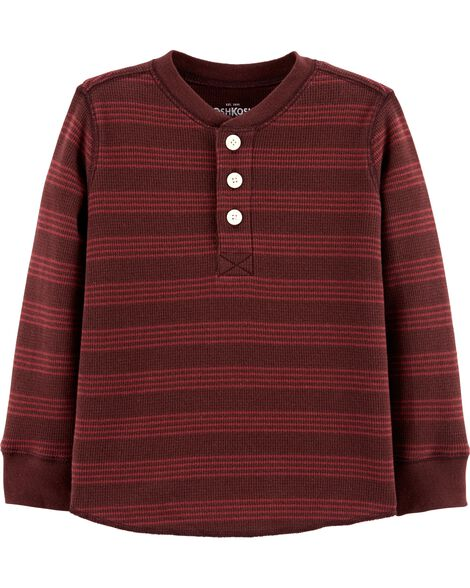 Striped Henley Thermal