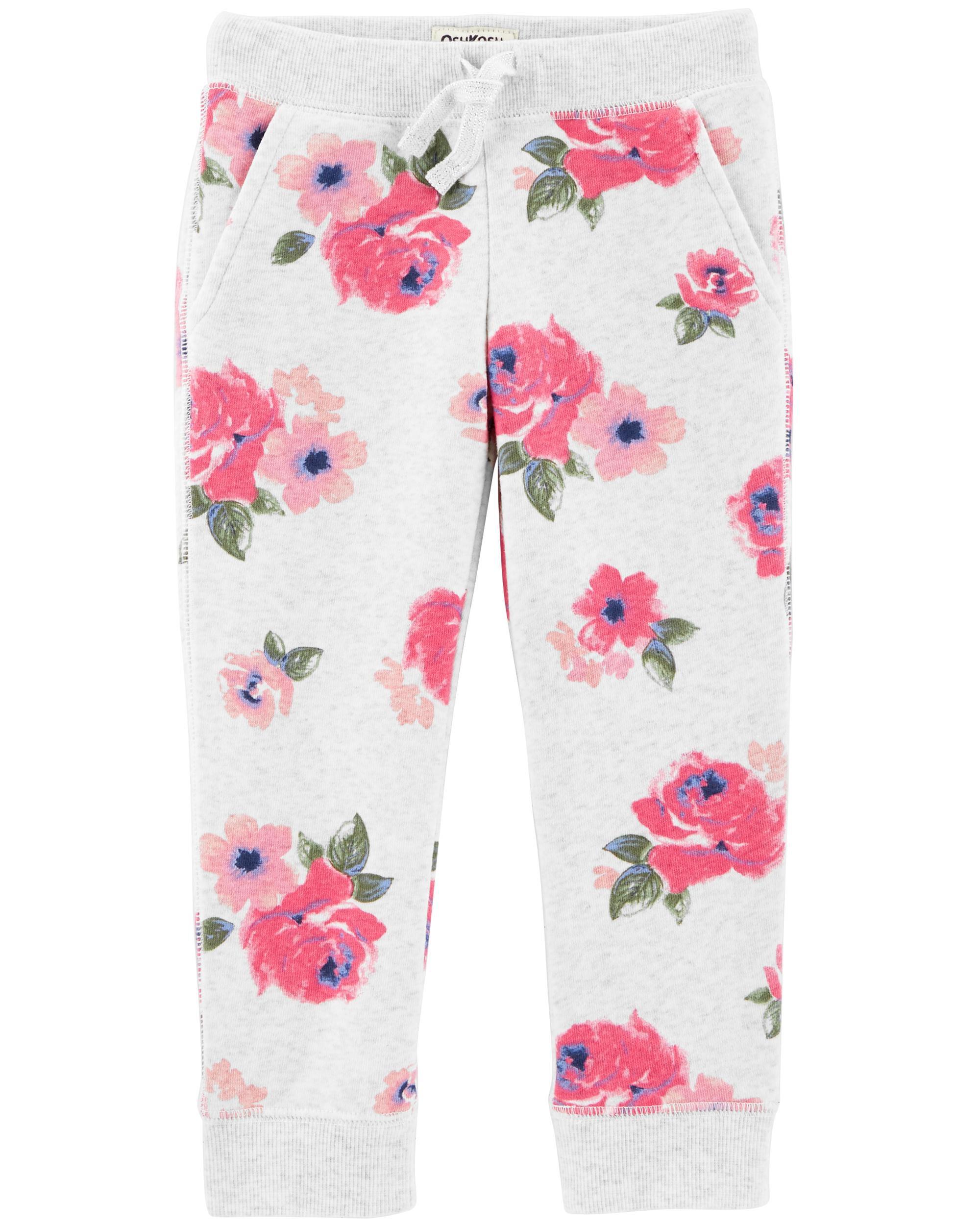 Floral Fleece Pants Oshkosh