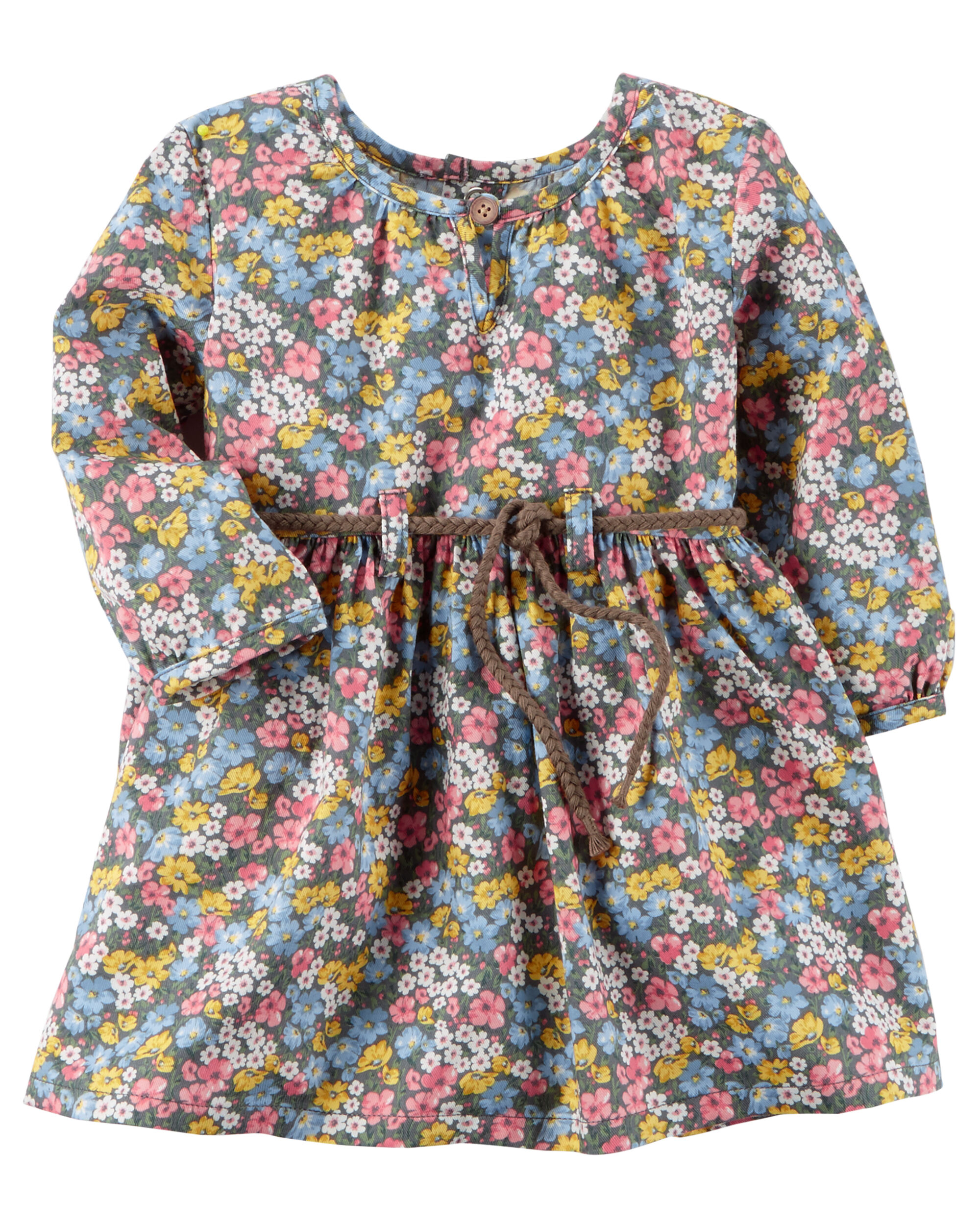 c510a1400 Baby Girl Floral Twill Dress | Carters.com