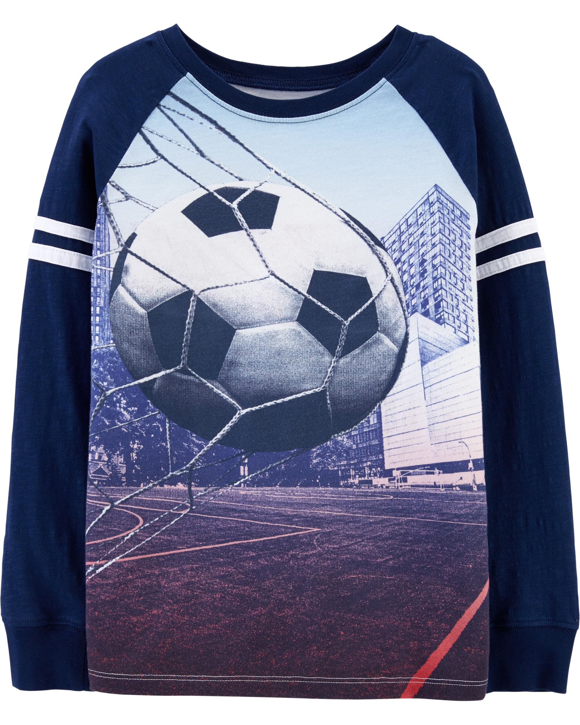 Baby Boy Long Sleeved Coveralls Soccer Ball Player Heart Baby Clothes