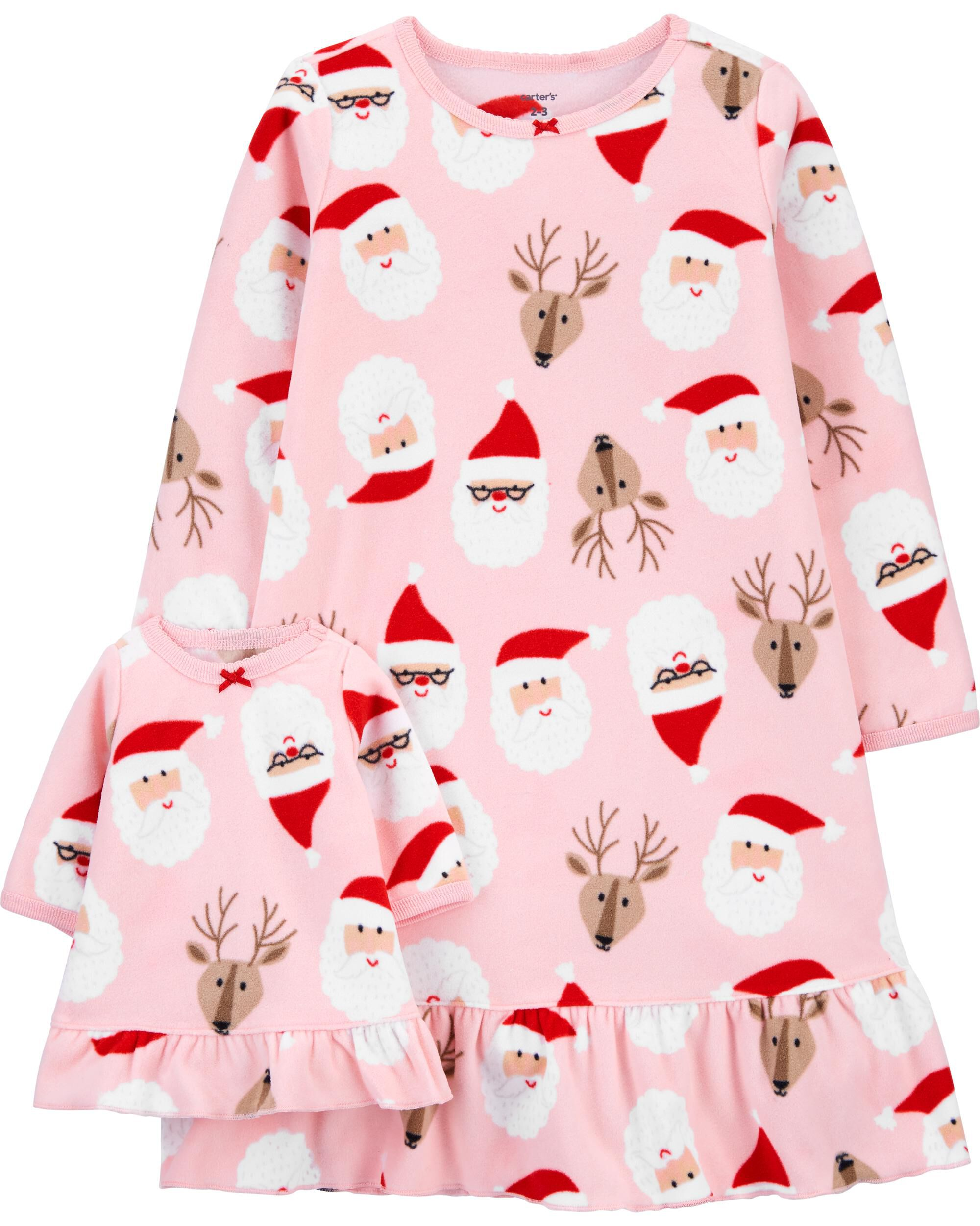 Christmas Matching Nightgown & Doll Nightgown Set