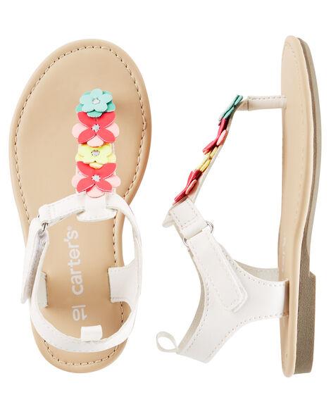 9694b7e348df Baby Girl Carter s Flower T-Strap Sandals