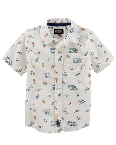 Summer Icon Button-Front Shirt