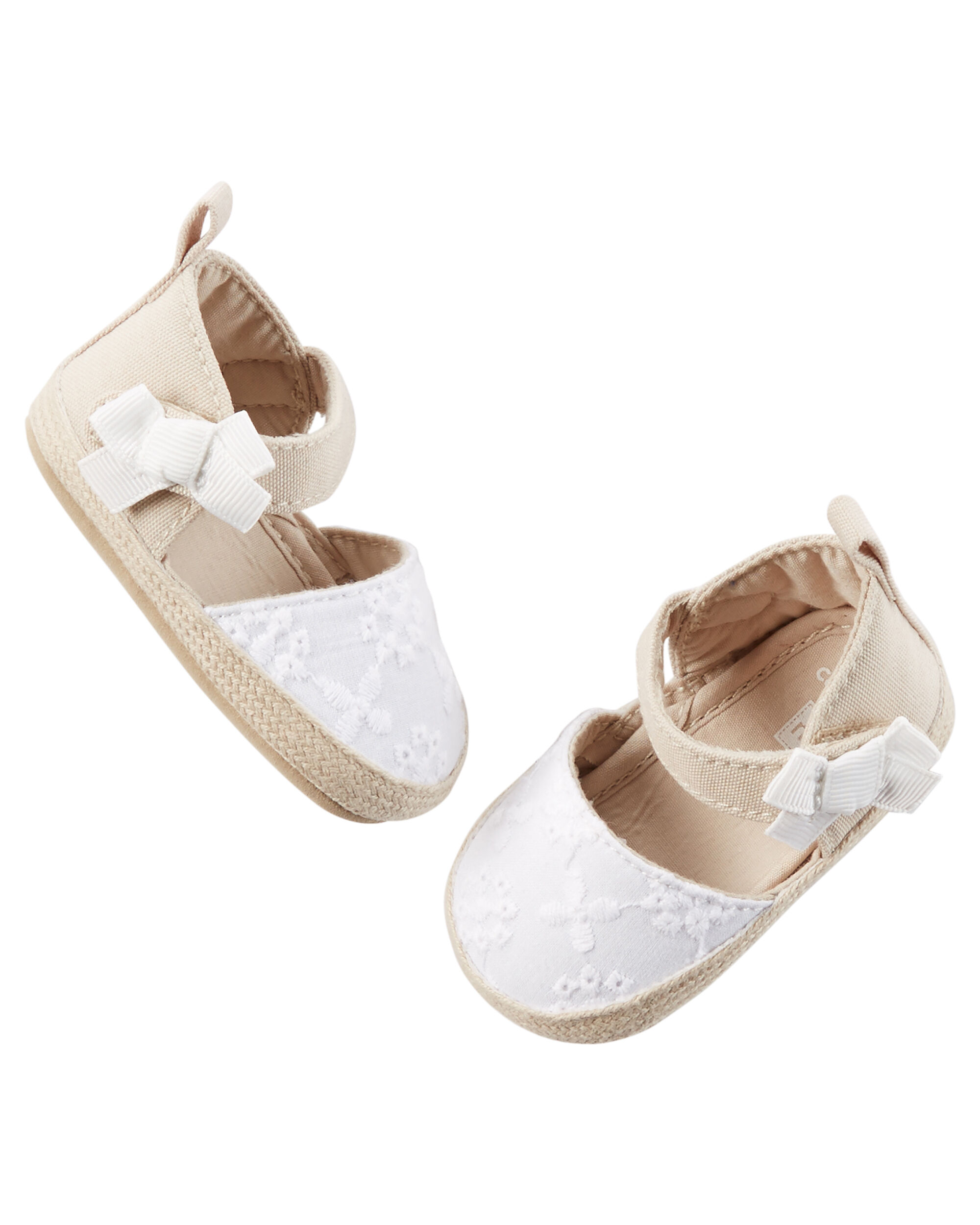 Baby Girl Carter s Crocheted Espadrille Crib Shoes