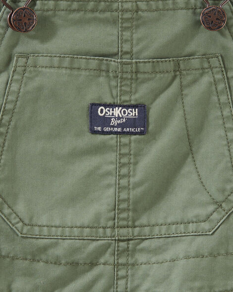 Convertible Twill Overalls