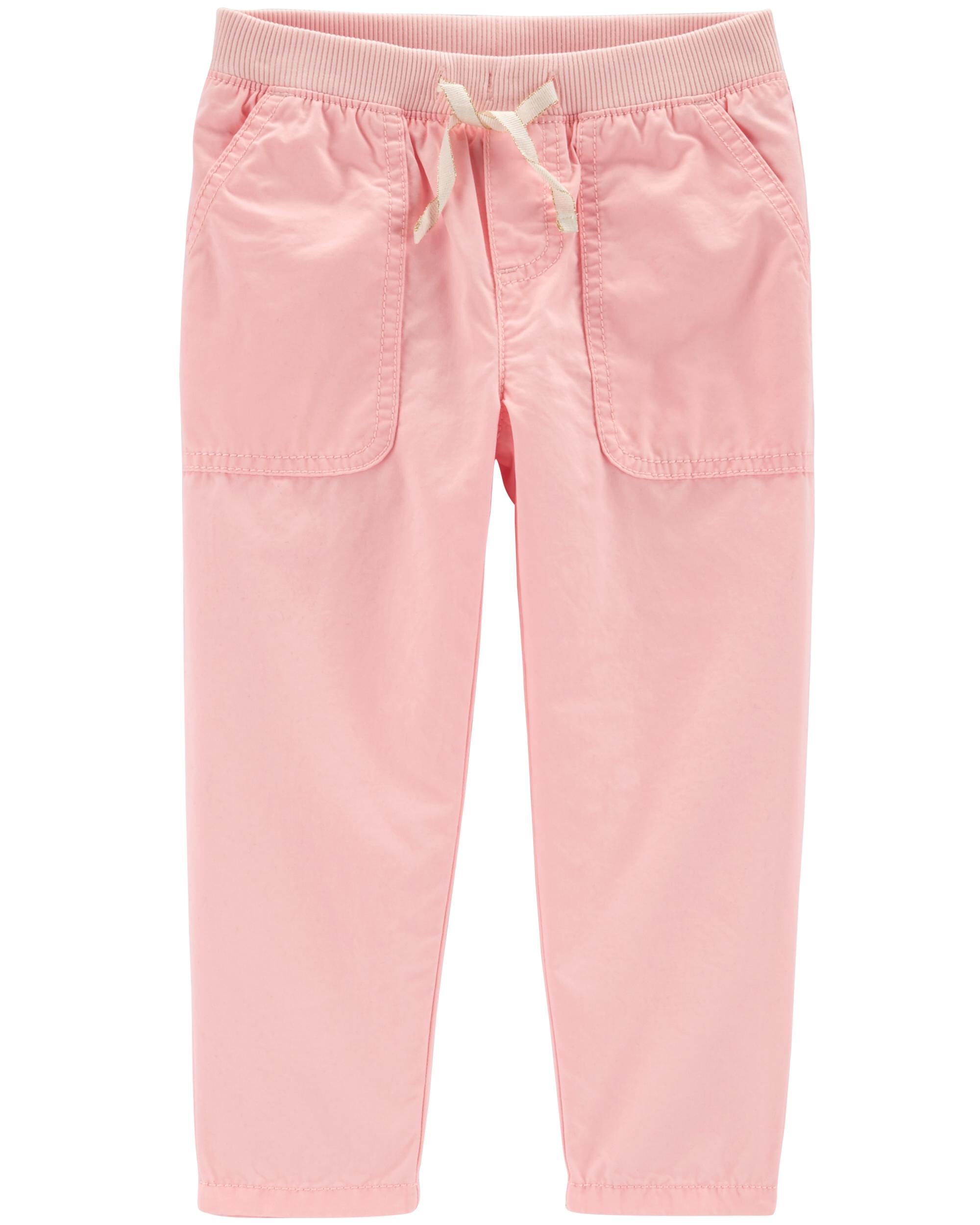 d3b28e0e2 Baby Girl Pull-On Relaxed Fit Pants | Carters.com