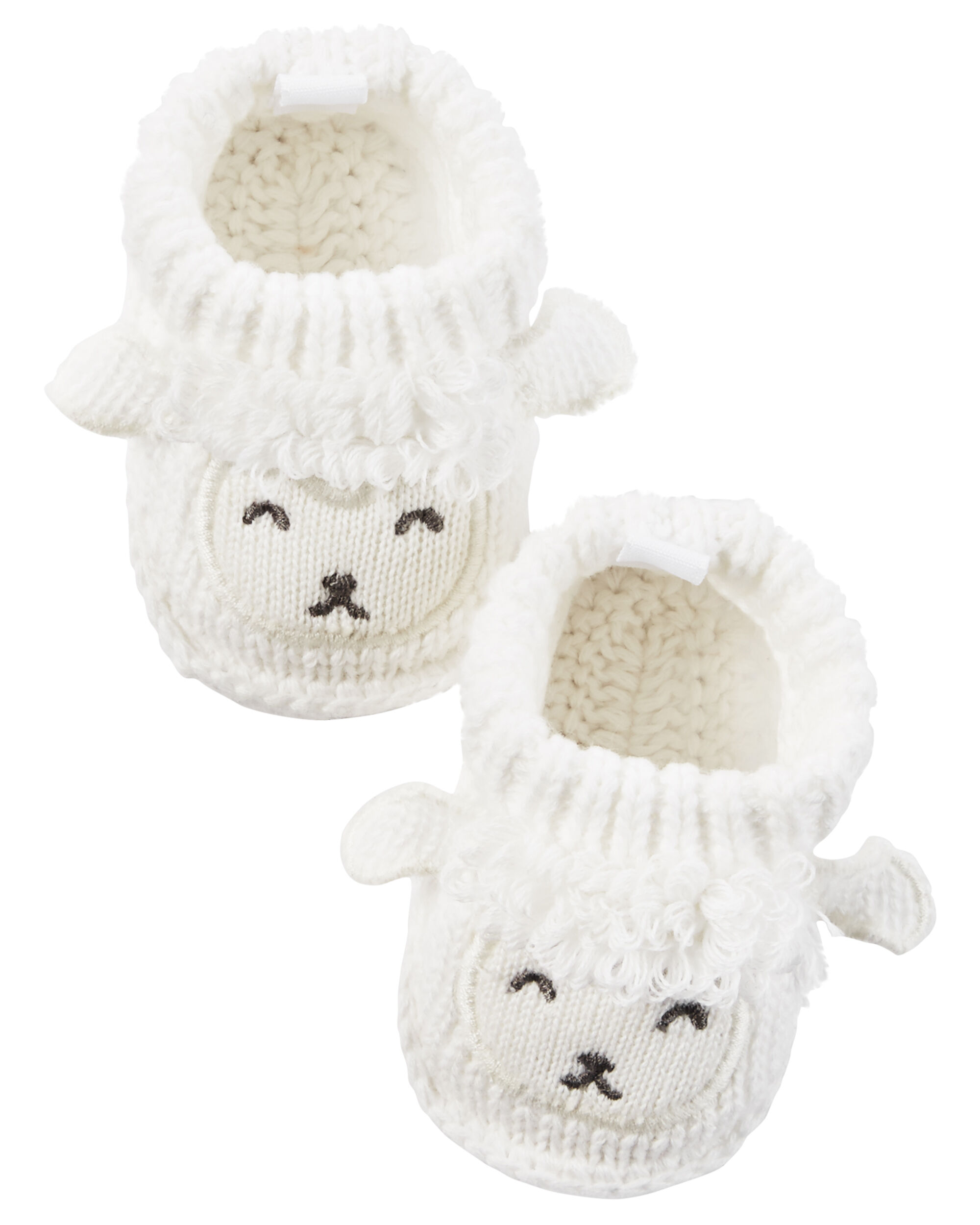 Baby Girl Lamb Crocheted Booties