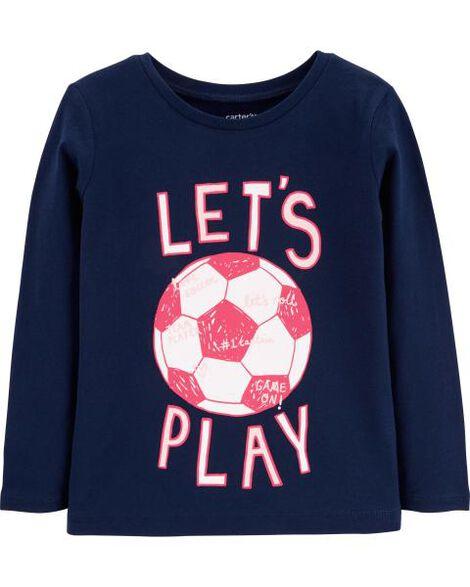 Baby Girl Let s Play Soccer Jersey Tee  d51e60a1e