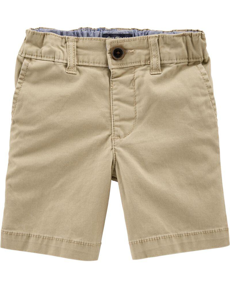 OshKosh BGosh Boys 2T-7 Khaki Shorts