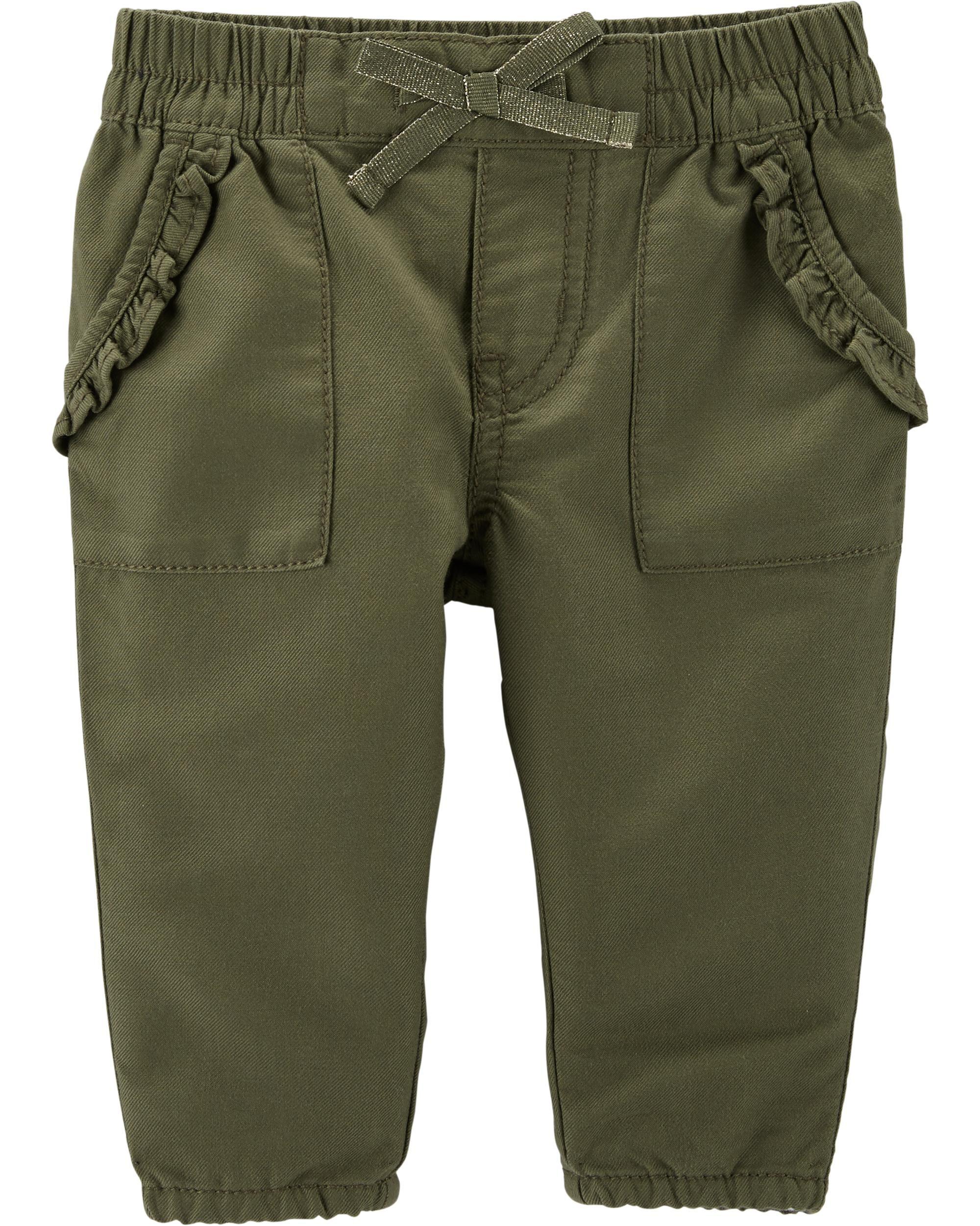 OshKosh Bgosh Baby Girls Pull-On Twill Shorts