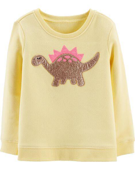 Sequin Dinosaur Pullover