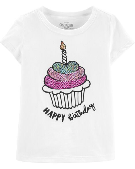 Sequin Happy Birthday Tee
