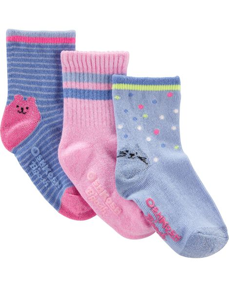 3-Pack Glow-in-the-Dark Crew Socks