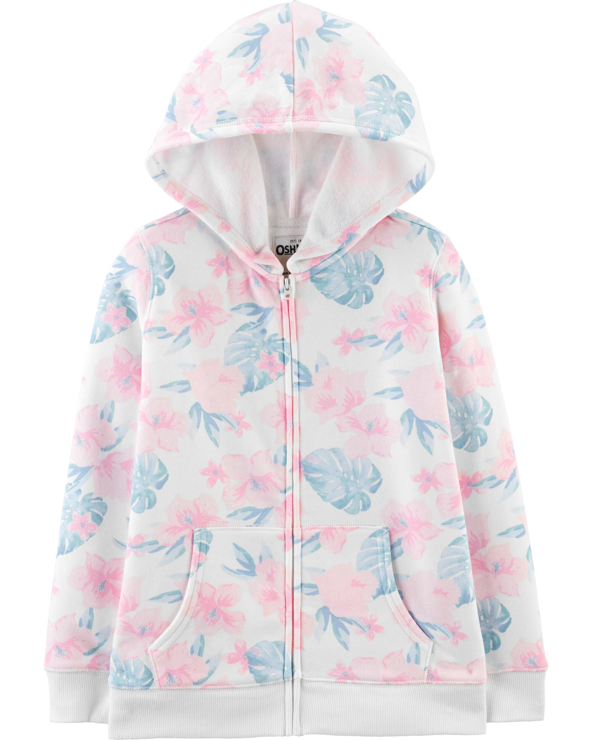 *CLEARANCE*Tropical Floral Hoodie