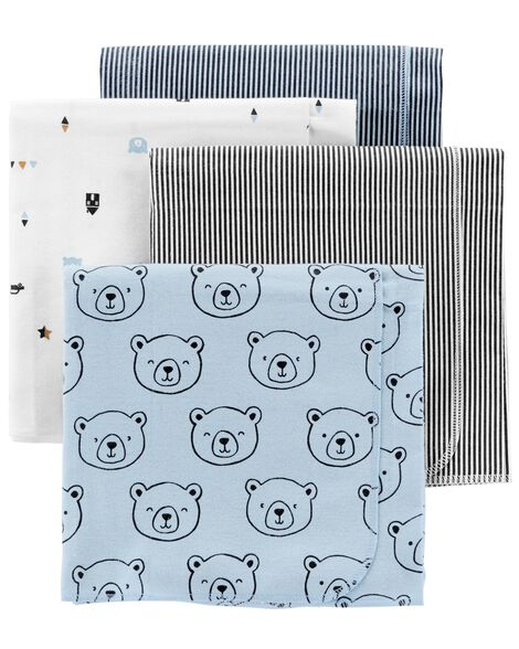 ed201077db Baby Boy 4-Pack Receiving Blankets