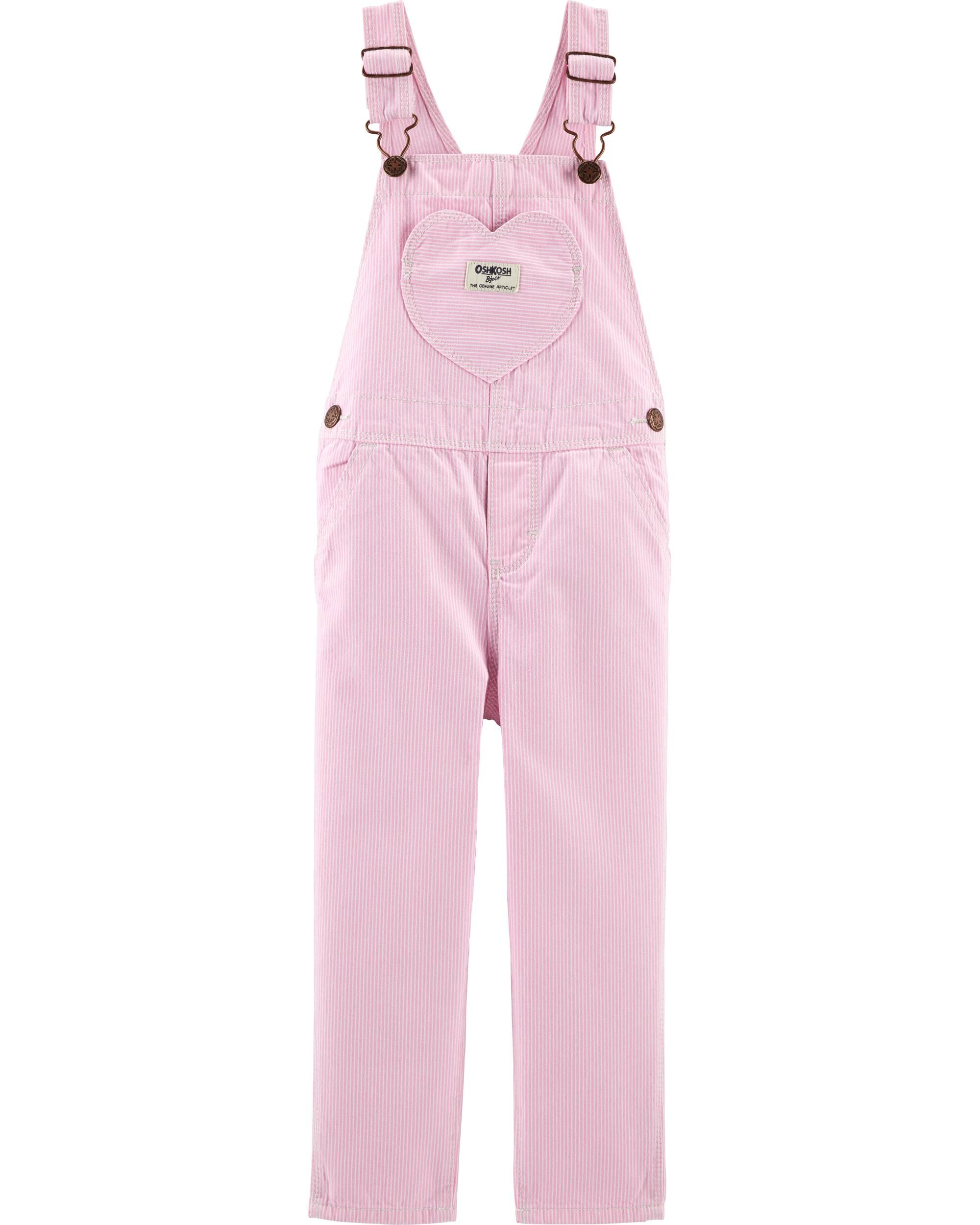 Girls' Clothing (newborn-5t) Osh Kosh 6 Months Girls Pink And White Stripped Overall At Any Cost Baby & Toddler Clothing