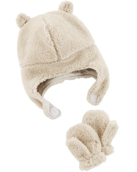 2542add6979 Infant Boy Hat And Mittens - Image Of Hat