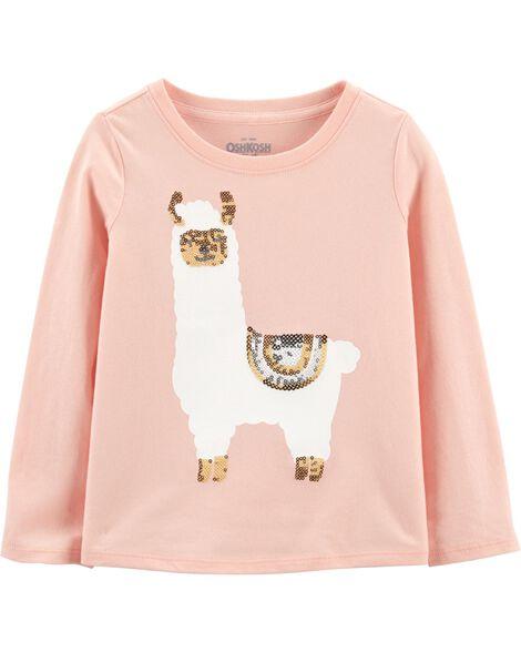 Llama Sequin Top