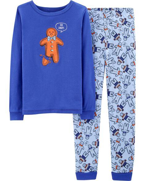 07a928926 Snug Fit Gingerbread Man Cotton PJs