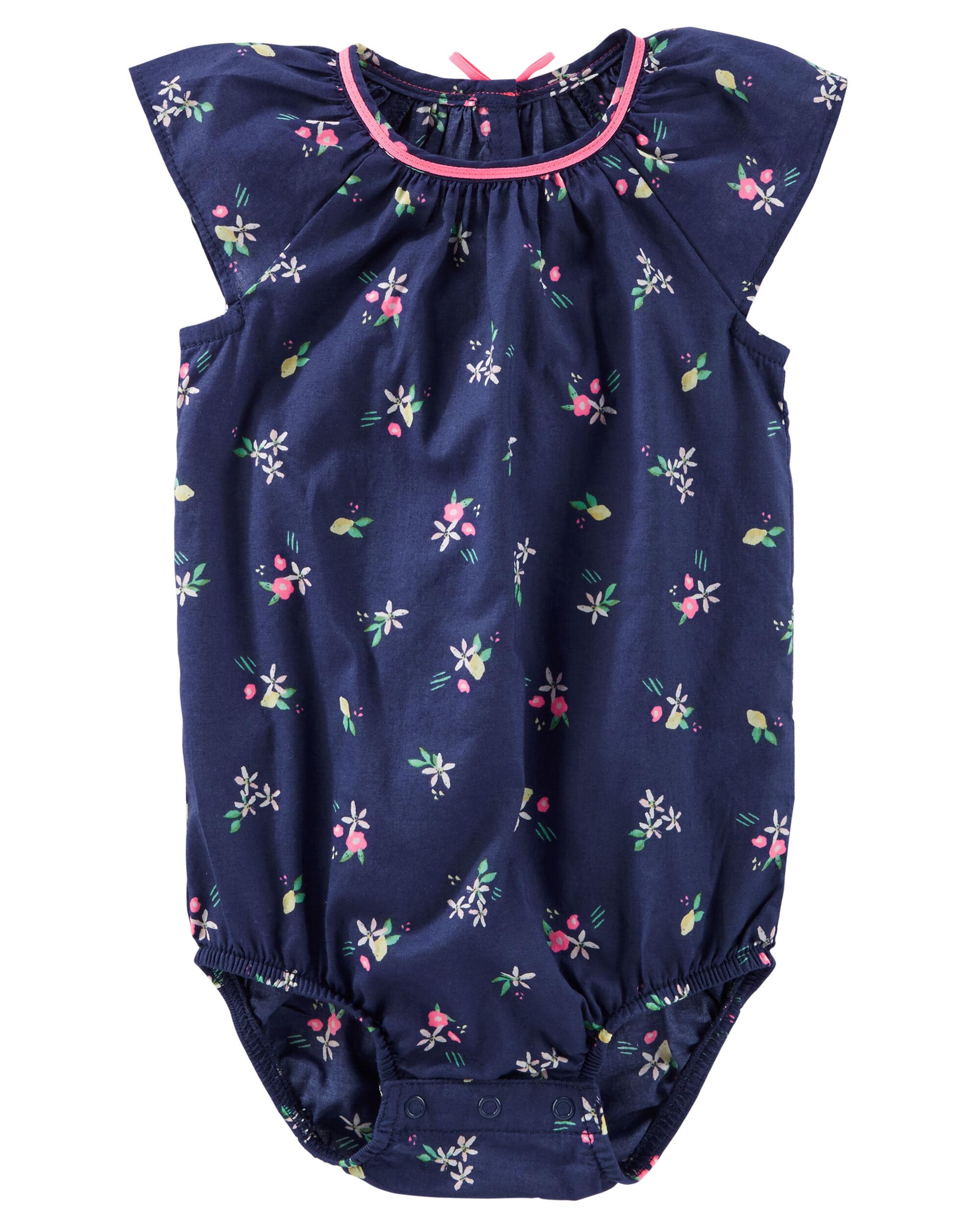 Floral Print Poplin Bodysuit