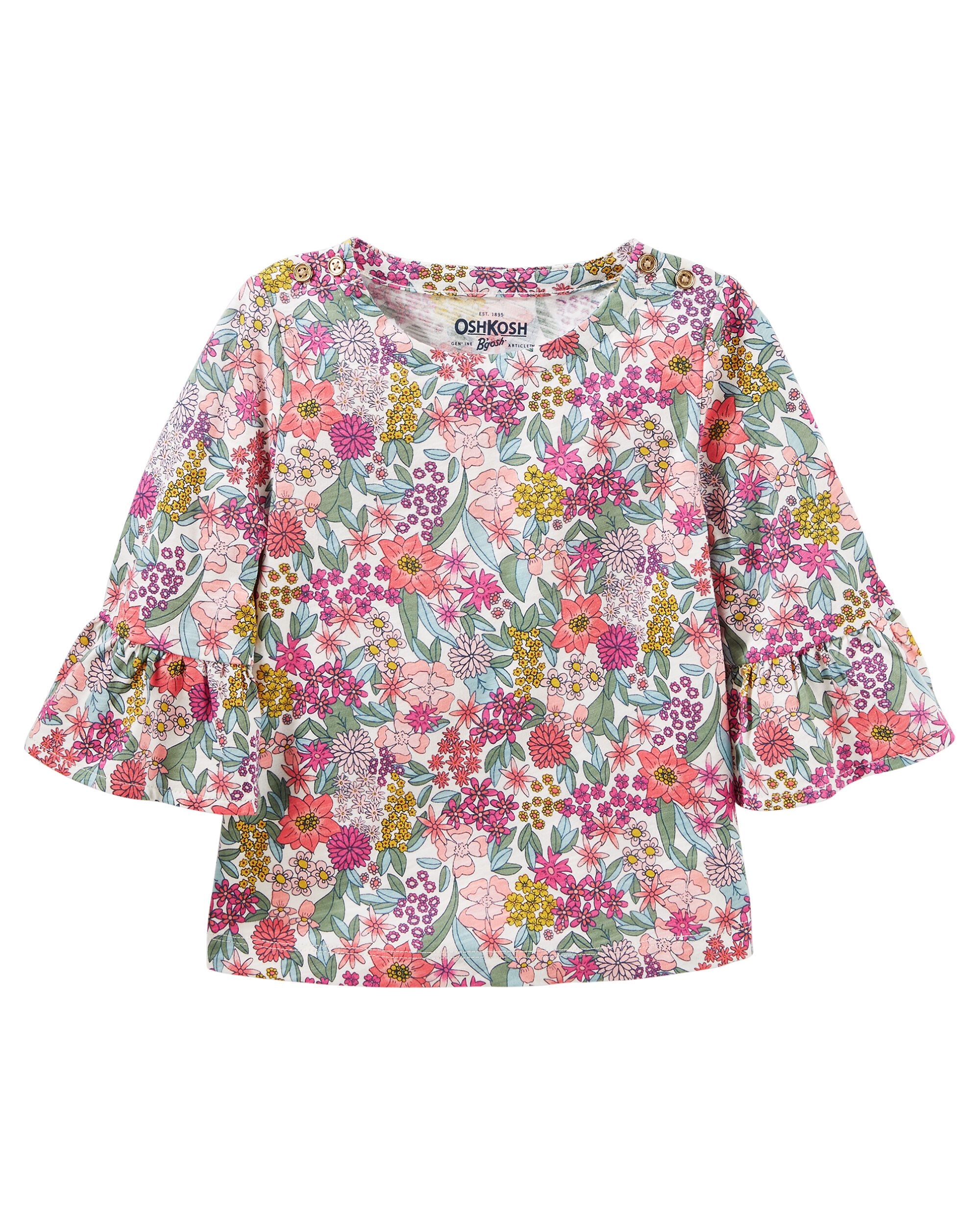 Floral Print Bell-Sleeve Top