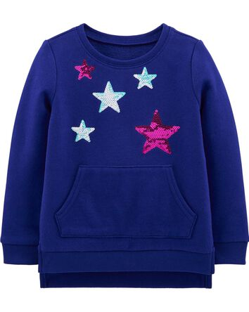 Sequin Star Sweatshirt Tunic