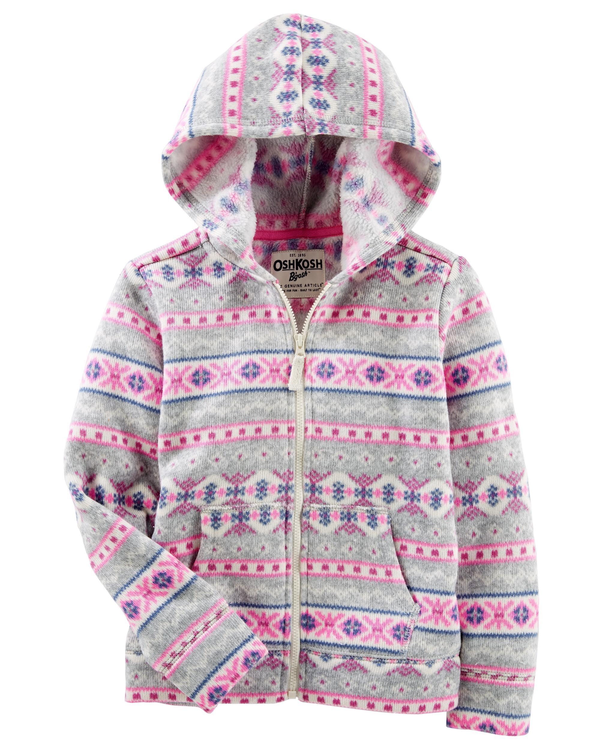 Fair Isle Sweater-Fleece Jacket   OshKosh.com