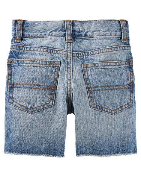 Denim Shorts - Sun Faded Medium Wash