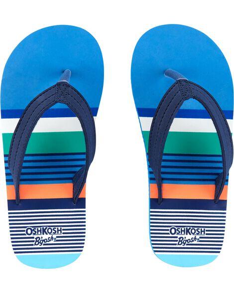 OshKosh Striped Flip Flops