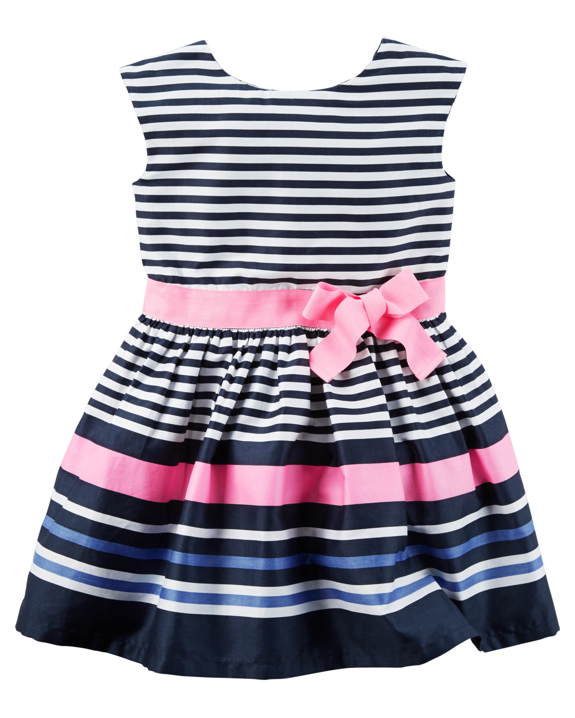 Baby Girl Sateen Striped Dress Carters Com