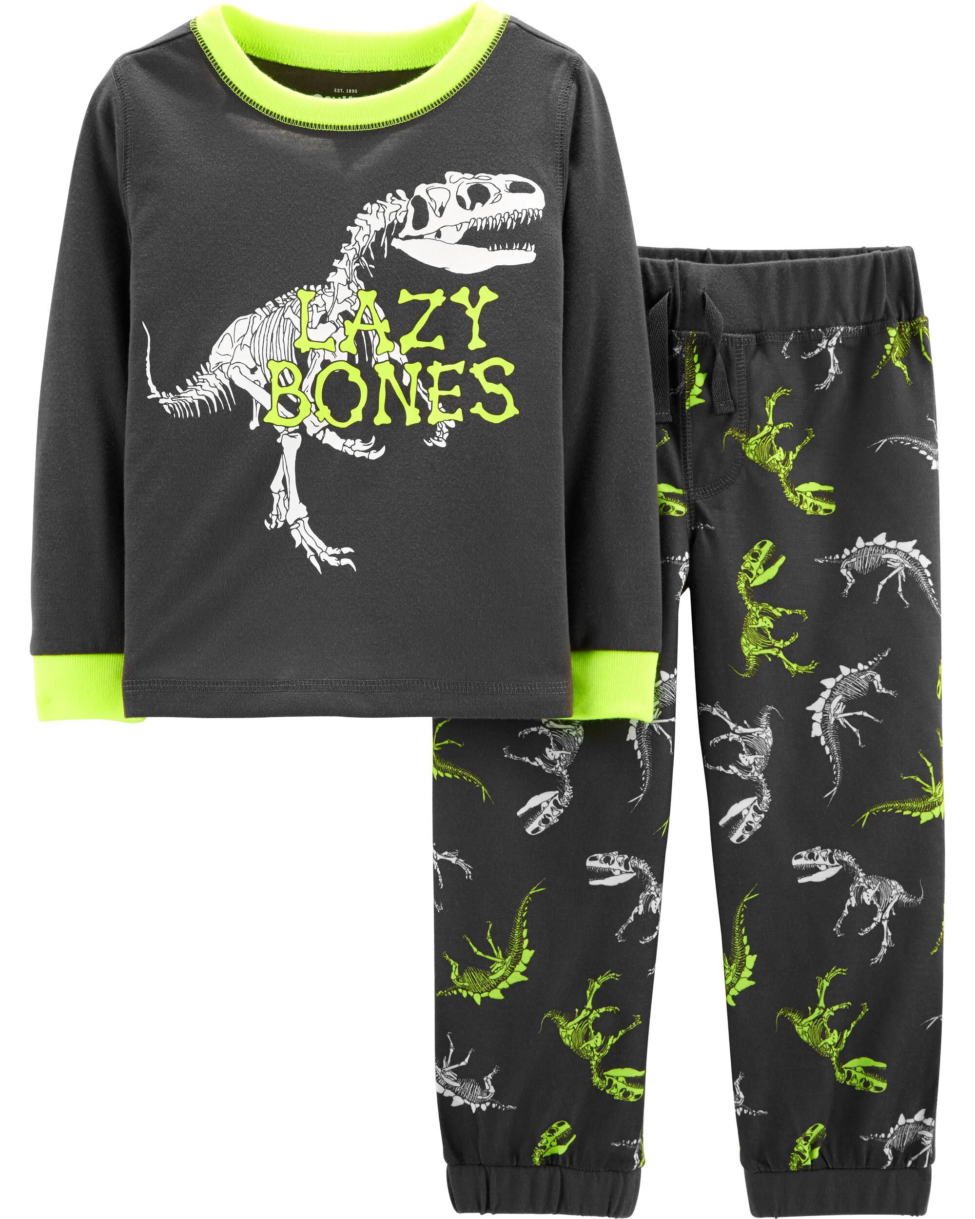 c5e543744 2-Piece Glow-in-the-Dark Dinosaur PJs