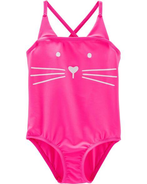 49abfd6576 OshKosh Cat One Piece Swimsuit | OshKosh.com