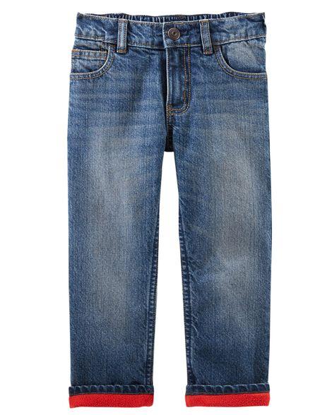 c09973a1b Microfleece-Lined Jeans - Dark Heritage Wash | OshKosh.com
