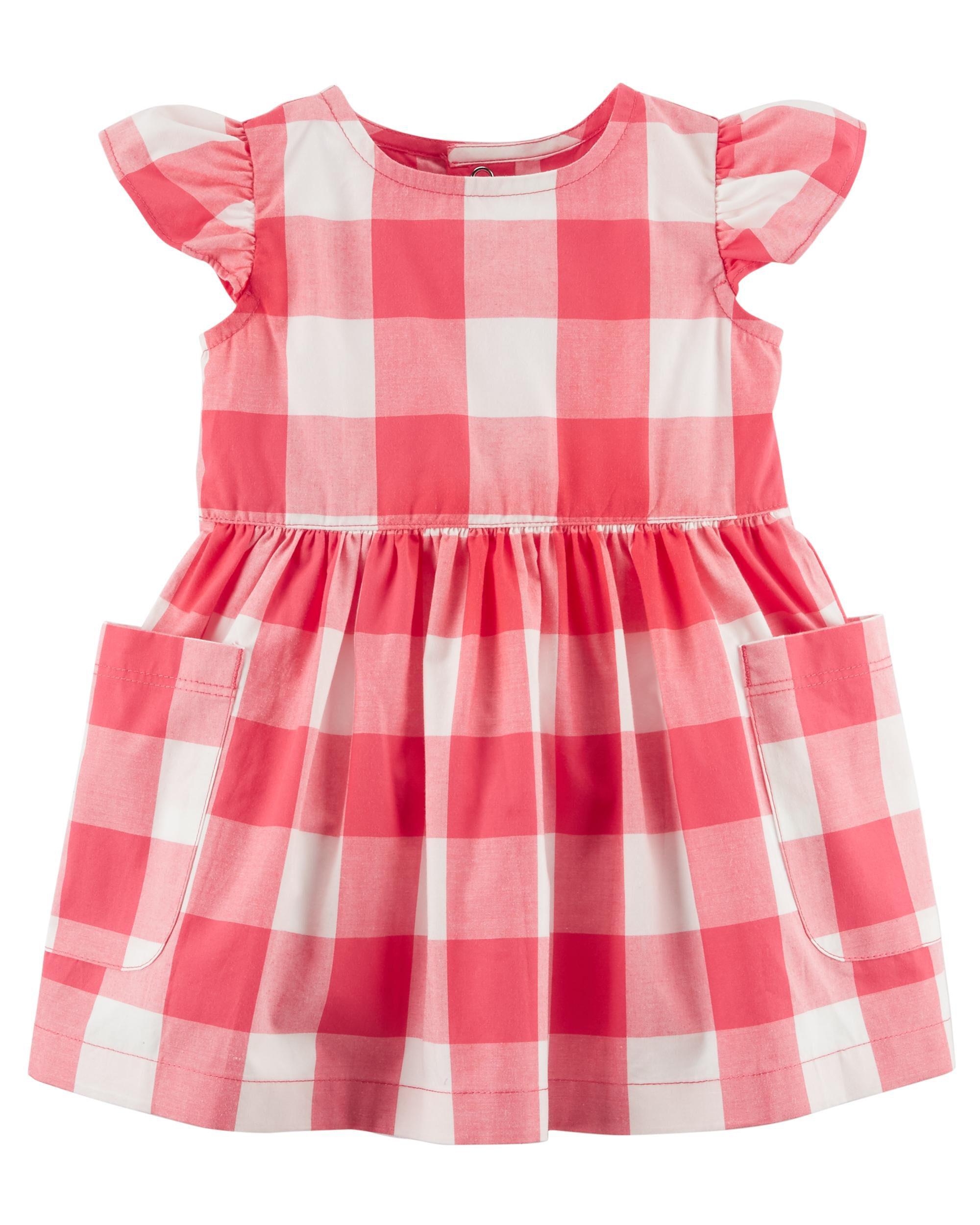 Baby Girl Gingham Poplin Dress
