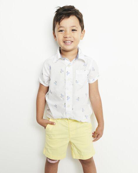 Button-Front Shark Shirt