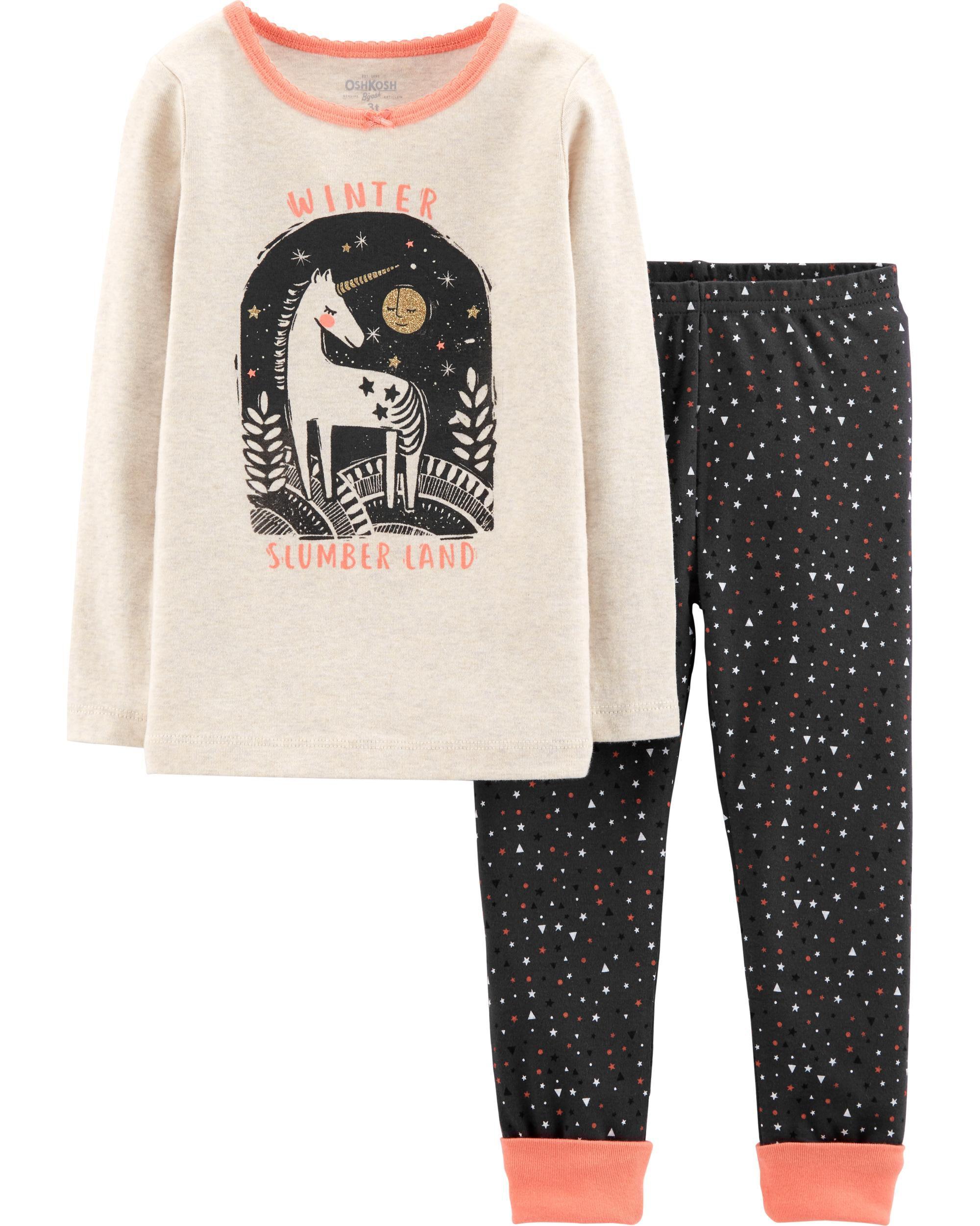 3cf60b52c748 Snug Fit Unicorn Wonderland Cotton PJs