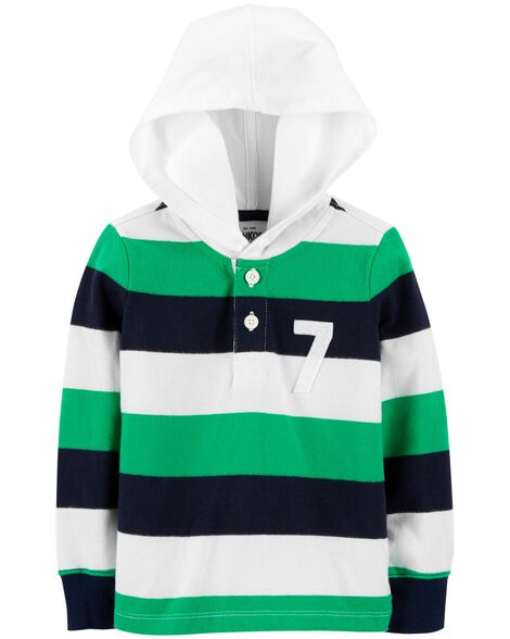 Hooded Rugby Top