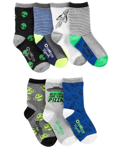 7-Pack Space Crew Socks