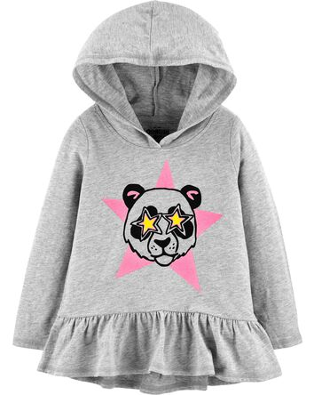 Hooded Panda Peplum Tunic
